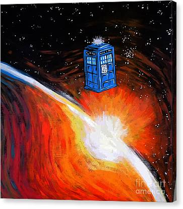 Tardis Time Canvas Print by Devika Indriani