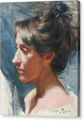 Tarena Canvas Print by Anna Rose Bain