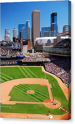 Target Field, Home Of The Twins Canvas Print by James Kirkikis