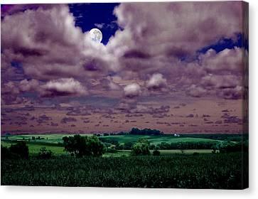 Canvas Print featuring the photograph Tarkio Moon by Steve Karol