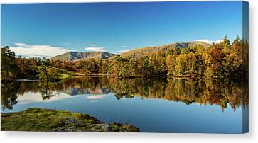 Canvas Print featuring the photograph Tarn Hows by Mike Taylor