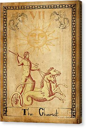 Tarot Card The Chariot Canvas Print