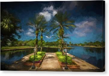 Tarpon Bayou Canvas Print by Marvin Spates