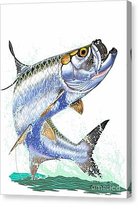 Tarpon Digital Canvas Print by Carey Chen