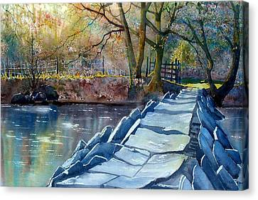 Tarr Steps Revisited Canvas Print