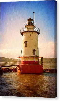 Tarrytown Lighthouse II Painterly Canvas Print