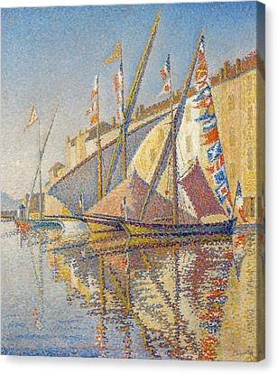 Signac Canvas Print - Tartans With Flags by Paul Signac