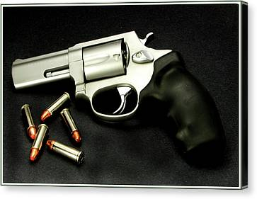 Canvas Print featuring the photograph Tarus .38 Special by Ron Roberts