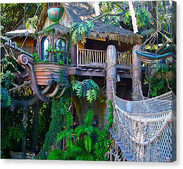 Tarzan Treehouse Canvas Print by Karon Melillo DeVega