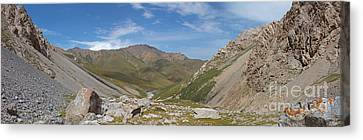Tash Rabat Mountains Panorama Canvas Print by Warren Photographic