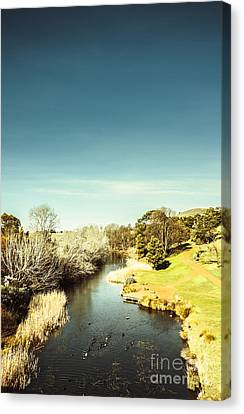 Tasmanian River Landscapes Canvas Print