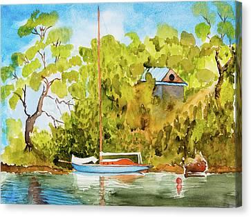 Tasmanian Yacht 'weene' 105 Year Old A1 Design Canvas Print