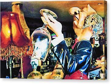 Vino Canvas Print - Tasting by Margaret Hood