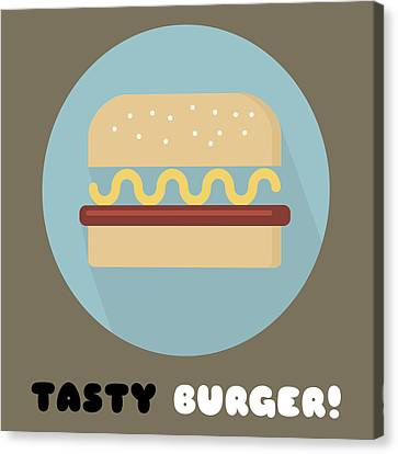 Tasty Tasty Burger Poster Print - Food Art Canvas Print