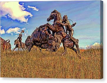 Tatanka Canvas Print by Dave Luebbert