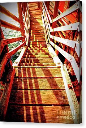 Tathra Wharf Stairs Canvas Print by Lexa Harpell