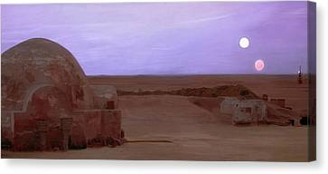 Tatooine Sunset Canvas Print by Mitch Boyce