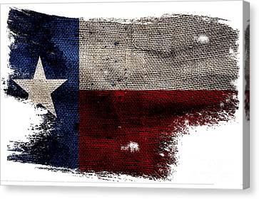 Tattered Lone Star Flag Canvas Print by Jon Neidert