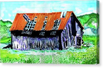 Canvas Print - Tattered Prairie Barn by Seth Weaver