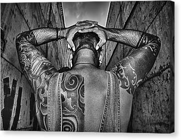 Tattoo Canvas Print by Stelios Kleanthous