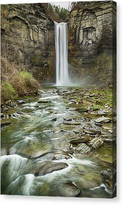 Taughannock Falls After The Thaw Canvas Print by Stephen Stookey