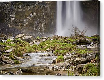 Taughannock Falls Base Canvas Print by Stephen Stookey