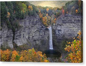 Taughannock Falls In Color Canvas Print by Jessica Jenney