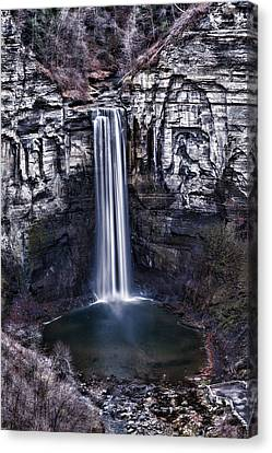 Taughannock Falls Late Autumn Canvas Print by Stephen Stookey