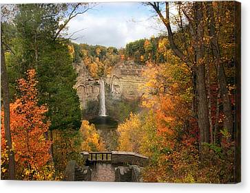 Taughannock Falls Splendor Canvas Print by Jessica Jenney