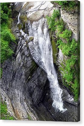 Taughannock Falls Upper Rim Trail Canvas Print by Christina Rollo