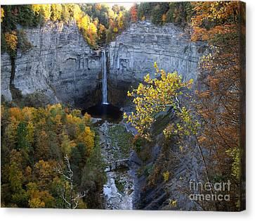 Canvas Print featuring the photograph Taughannock Falls by Vilas Malankar