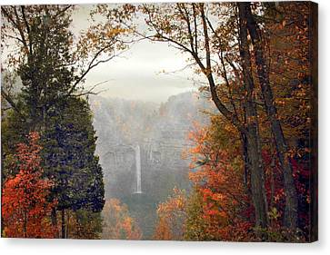 Taughannock In The Mist Canvas Print by Jessica Jenney