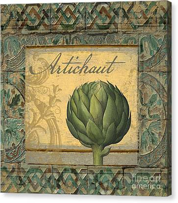 Tavolo, Italian Table, Artichoke Canvas Print by Mindy Sommers