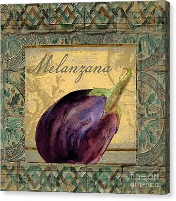 Tavolo, Italian Table, Eggplant Canvas Print by Mindy Sommers