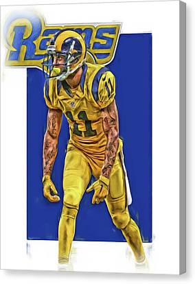 Tavon Austin Los Angeles Rams Oil Art Canvas Print