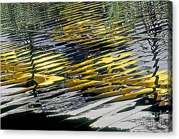 Taxi Abstract Canvas Print by Tony Cordoza