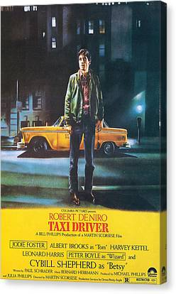 Taxi Driver - Robert De Niro Canvas Print by Georgia Fowler