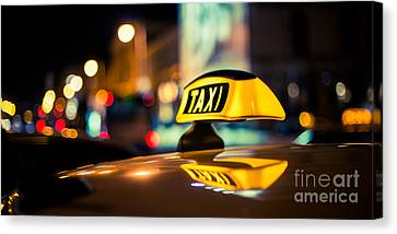 Taxi Canvas Print by Hannes Cmarits