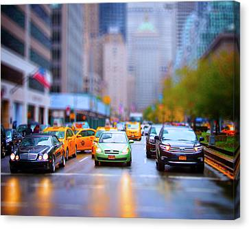 Taxi Canvas Print by Mark Andrew Thomas