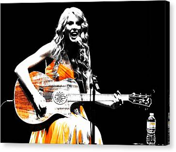 Taylor Swift 9s Canvas Print by Brian Reaves