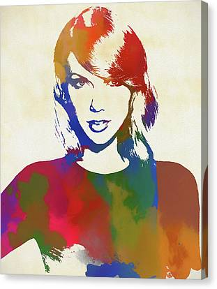 Taylor Swift Canvas Print - Taylor Swift by Dan Sproul