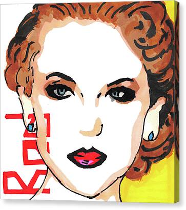 Taylor Swift Canvas Print - Taylor Swift Pop Art Painting by Manavi Singhal