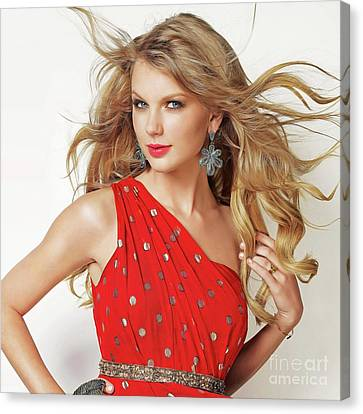 Taylor Swift Canvas Print by Twinkle Mehta