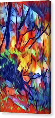 Taylors Creek Canvas Print by David Hansen