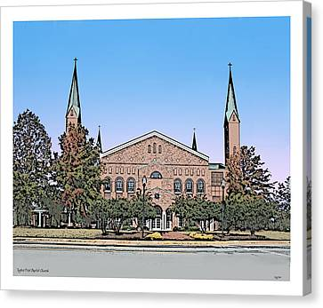 Carolina Canvas Print - Taylors First Baptist Church by Greg Joens