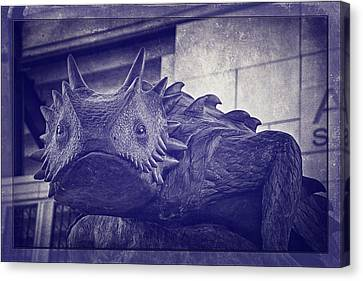 Tcu Horned Frog Purple Canvas Print by Joan Carroll