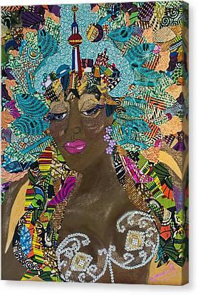Canvas Print featuring the tapestry - textile Tdot Caribana by Apanaki Temitayo M
