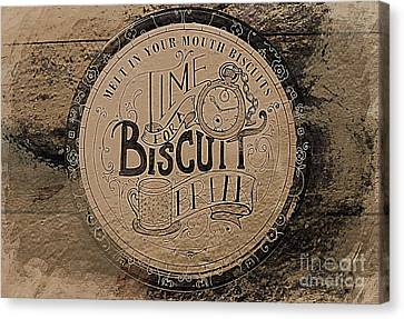 Tea And A Biscuit Canvas Print by Clare Bevan