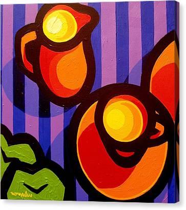Tea And Apples Canvas Print by John  Nolan