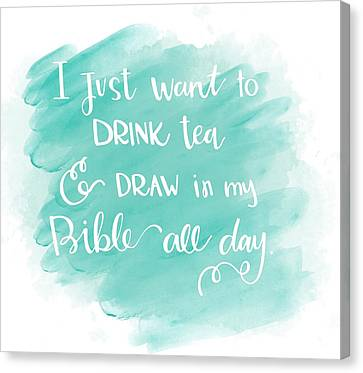 Painter Canvas Print - Tea And Draw by Nancy Ingersoll